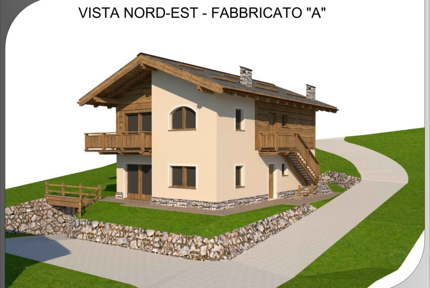 03.3 Vista Nord-Est - Fabbricato A